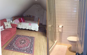 Panshill Accommodation Oxfordshire Ensuite King Room 3 Lakeview Kingsize